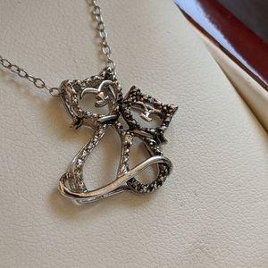 Genuine Diamond Cat Necklace
